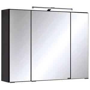 Badezimmer Spiegelschrank 80cm Led Graphit Badspiegel