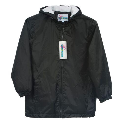 Children Kids Raincoat  Jacket Towel Lined Black Size 6