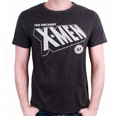 OFFICIAL MARVEL COMICS - THE UNCANNY X-MEN '63 COMIC PRINT GREY T-SHIRT (NEW)