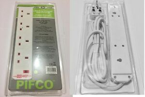 NEW-4-WAY-GANG-2M-SURGE-PROTECTED-EXTENSION-LEAD-CABLE-13A-WHITE-PLUG-SOCKET