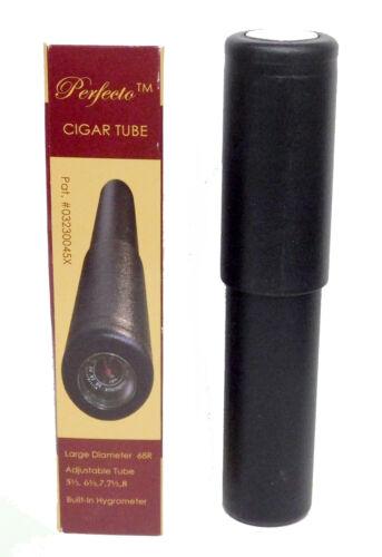NEW Cigar Case 68 Ring Black PP Hygrometer Tube Holder Saver