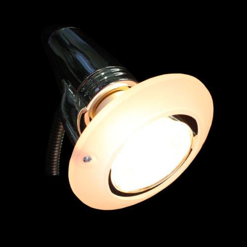 Retro Design Steckdosenleuchte CHROM Lampe Steckdosenspot Leselampe Strahler