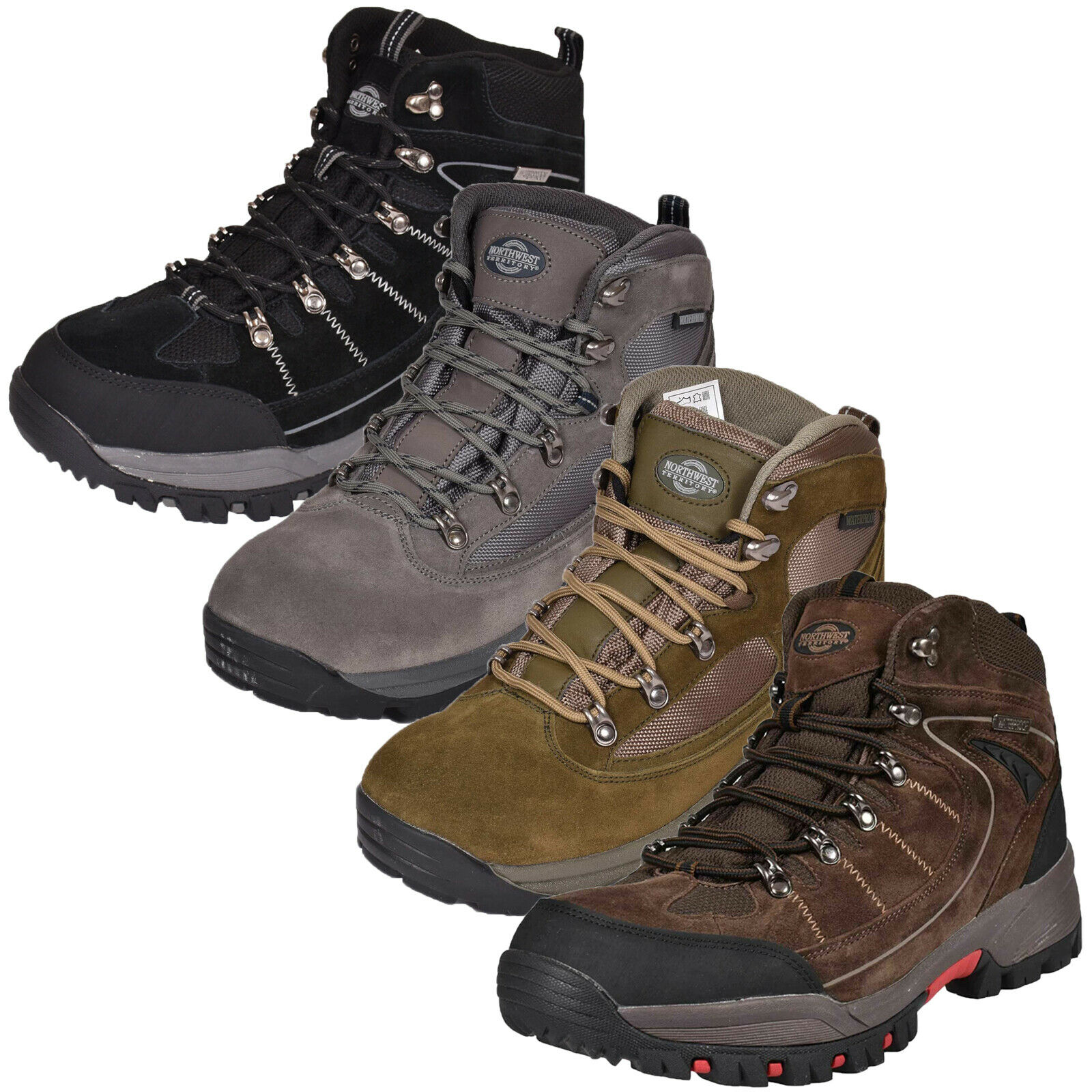 Norhtwest Mens Leather Walking Hiking Trail Waterproof Ankle High Rise  Boot shoes  fantastic quality