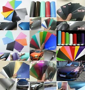 CF 8cm x 12cm Test Sample Car Glossy Rainbow Mirror Chrome Vinyl Wrap Sticker