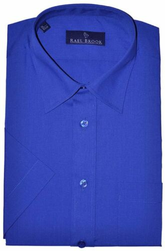 Men/'s Rael Brook Short Sleeve Shirt 14 Colours Work Formal Business Casual BNWT