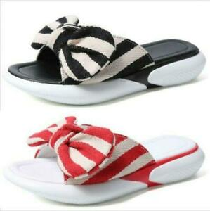 Sweet Ladies Bownot Slingbacks Thick Sole Creepers Comfort Slippers Sandals
