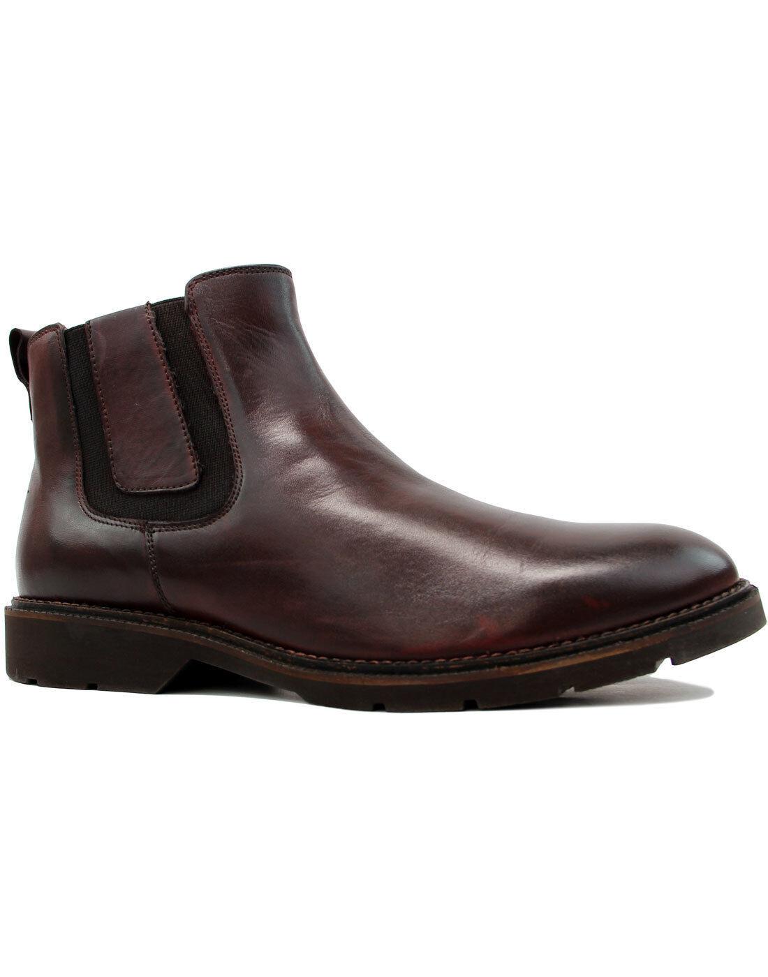 Nuevas botas para hombre Chelsea Cuero Retro 70s Mod 60s 70s Retro Rojo Sangre Jinete M9588BD 15 C c0a488