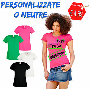 T-Shirt-Donna-Personalizzata-Maglietta-Personalizzata-o-Neutra