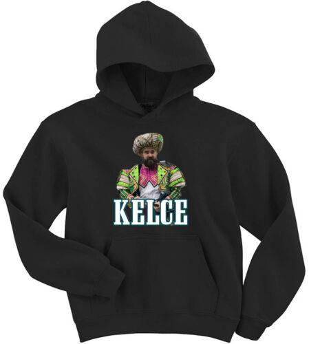 "Jason Kelce Philadelphia Eagles Parade /""Mummers/"" Hoodie HOODED SWEATSHIRT"