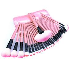 Pro 32 PCS Makeup Brush Cosmetic Set Kit Case + Pink Make-up Brushes Pouch Bag