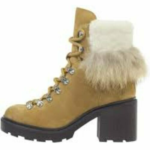 Sigerson Morrison NWT$450 Naia Lace-Up Boots W// Shearling Sz 6.5 8 9 7