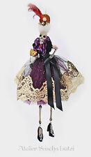 Katherine´s Collection Halloween Skelett Aufhänger Venedig Lila USA Import 36cm