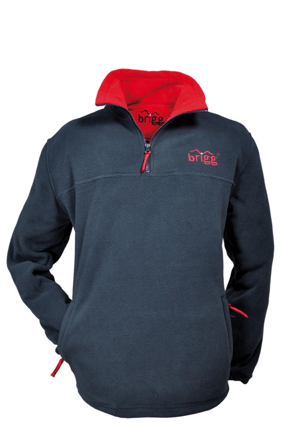 Warmes Fleece SWEATSHIRT Brigg anti-pilling Unisex blue red
