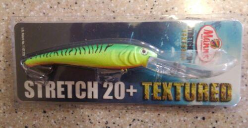 BigFish Cast//Trolling Lure T20-08 MANN/'S Texturé Stretch 20 FIRETIGER