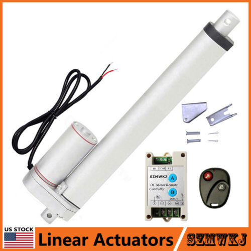"Remote Controller Auto Lift US 1500N Linear Actuator 2/""-18/"" 12V Electric Motor"