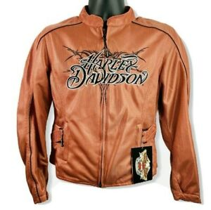 Harley-Davidson-Women-039-s-Rose-Pink-Motorcycle-Jacket-Official-Merchandise