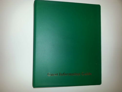 Informazioni per gli ospiti guida cartella in PVC con 25 tasche ref verde//oro 4D 25