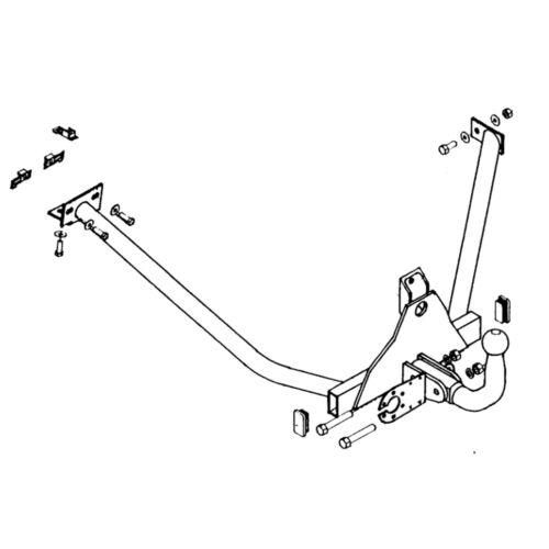 Oris Towbar for Peugeot 205 Hatchback 1983-1998 Fixed Swan Neck Tow Bar