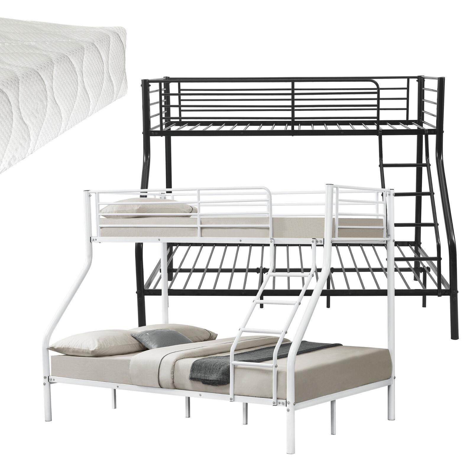 Enfants Superposé Lits superposés Métal Structure de lit existante + matelas 200x140 90cm