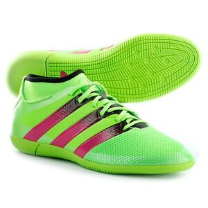 competitive price 4203f 8133e Image is loading Adidas-ACE-16-3-Primemesh-Indoor-Soccer-Green-