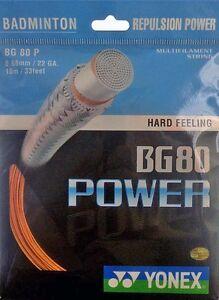 Genuine yonex BG80 power badminton racket string bg 80-orange  </span>