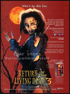 RETURN OF THE LIVING DEAD 3__Orig. 1994 Trade Print AD / ADVERT__MELINDA CLARKE