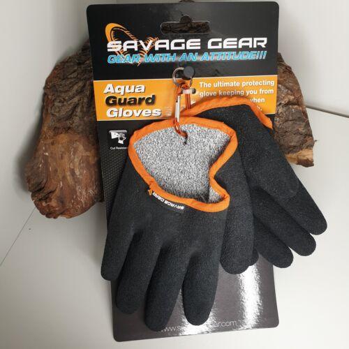 Savage Gear Aqua Guard Glove L Protection Gant d/'atterrissage Gant Pike cut resistant