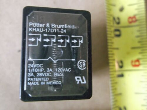 Potter /& Brumfield KHAU-17D11-24V Power Relay