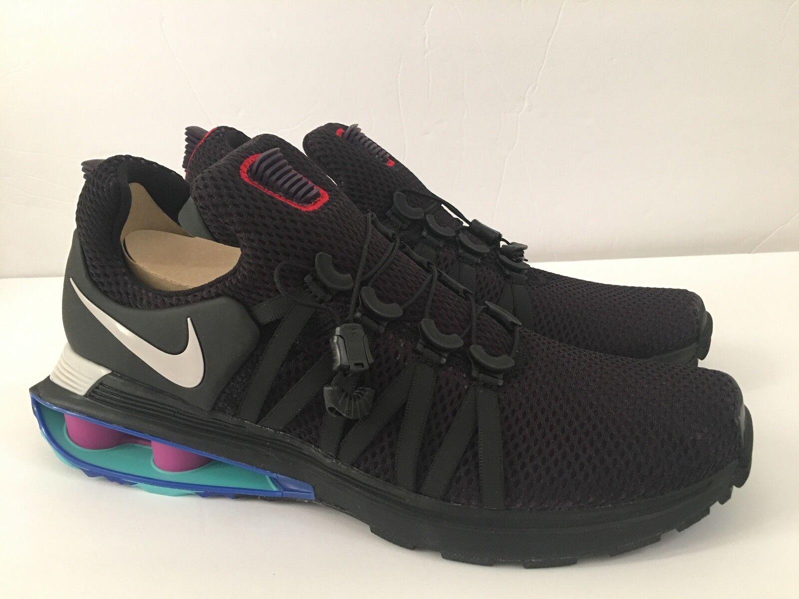 Nike Shox Gravity Mens Purple Grey Black Size 10 AR1999 500 Running Sneaker shoes