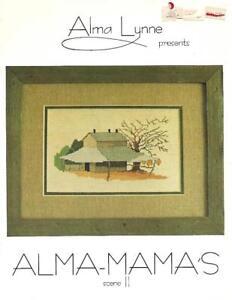 Alma-Lynne-ALMA-MAMA-039-S-Scene-II-1980-Vintage-Cross-Stitch-Pattern-Booklet
