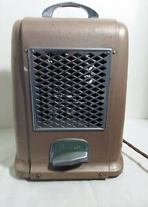 Vintage Art Deco Arvin Model 223 Brown Electric Space Heater