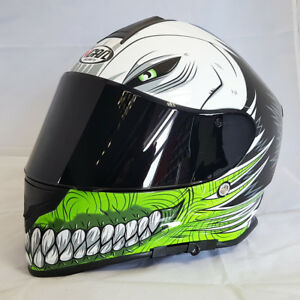 3d221af4 VCAN V127 HOLLOW GREEN MOTORCYCLE FULL FACE PINLOCK READY HELMET + ...