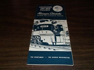 APRIL-1957-C-amp-O-CHESAPEAKE-amp-OHIO-SYSTEM-PUBLIC-TIMETABLE