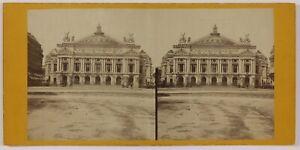Opera Garnier Parigi Francia Foto Stereo L6n55 Vintage Albumina c1875