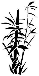Bambou Réf: A001 28x54 cm Stickers Autocollant Muraux