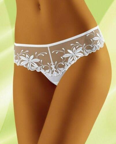 Wolbar White Lace Thong