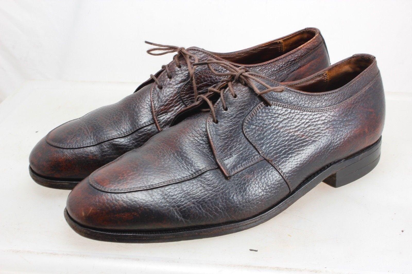 Florsheim Men's Brown Oxford Size 9.5 3E Vintage Mid-Century