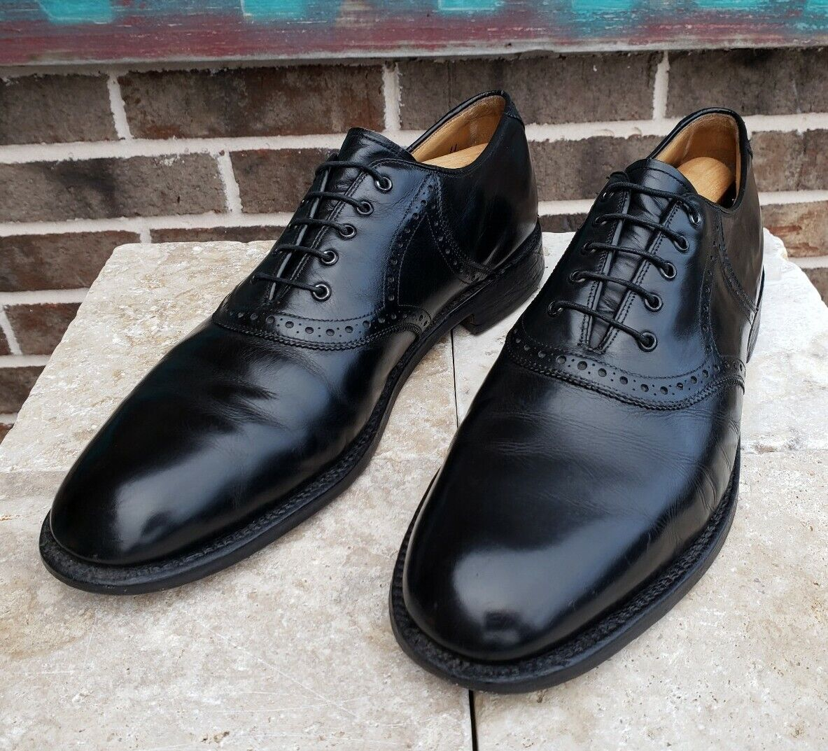 Johnston and Murphy Aristocraft 24-8571 Size 11.5 B/2A Black Oxford
