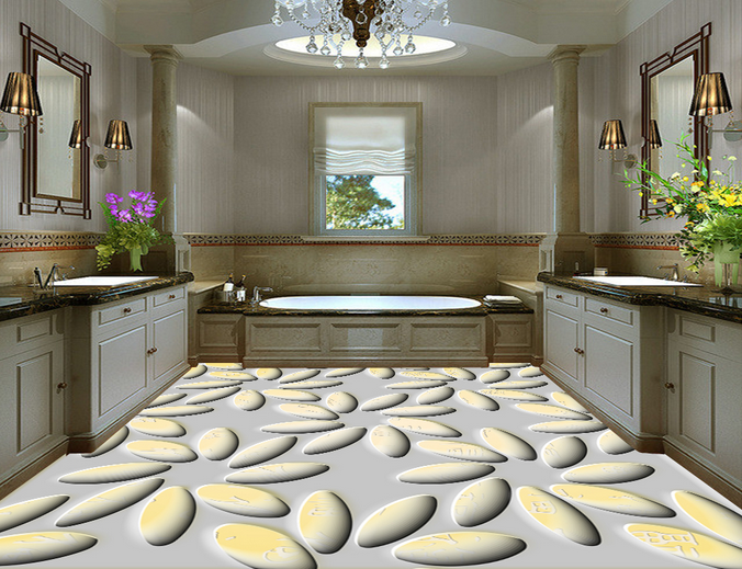 3D Blüten 65 Fototapeten Wandbild Fototapete Tapete Familie DE Lemon