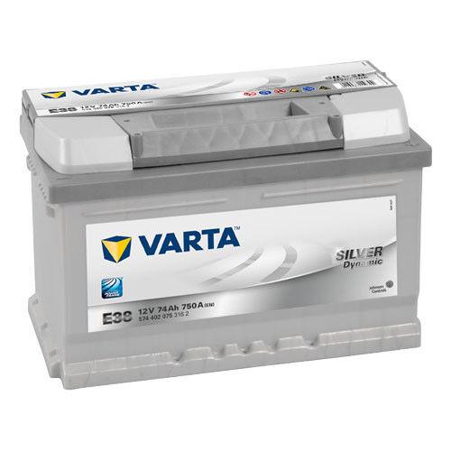 Autobatterie Varta Silver Dynamic E38 12V 74Ah ers. 62 63 64 66 70 72 Ah *NEU*