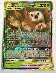 Rowlet Alolan Exeggutor GX 1//236 Tag Team Pokemon NM
