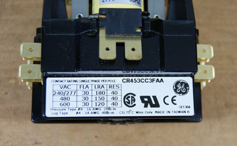 GE DEFINITE PURPOSE CONTACTOR MODEL CR453AB3BBB