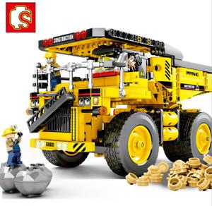 Sembo-Blocksteine-Mine-Verkehrstechnik-Figur-Spielzeug-Modell-Geschenk-807PCS