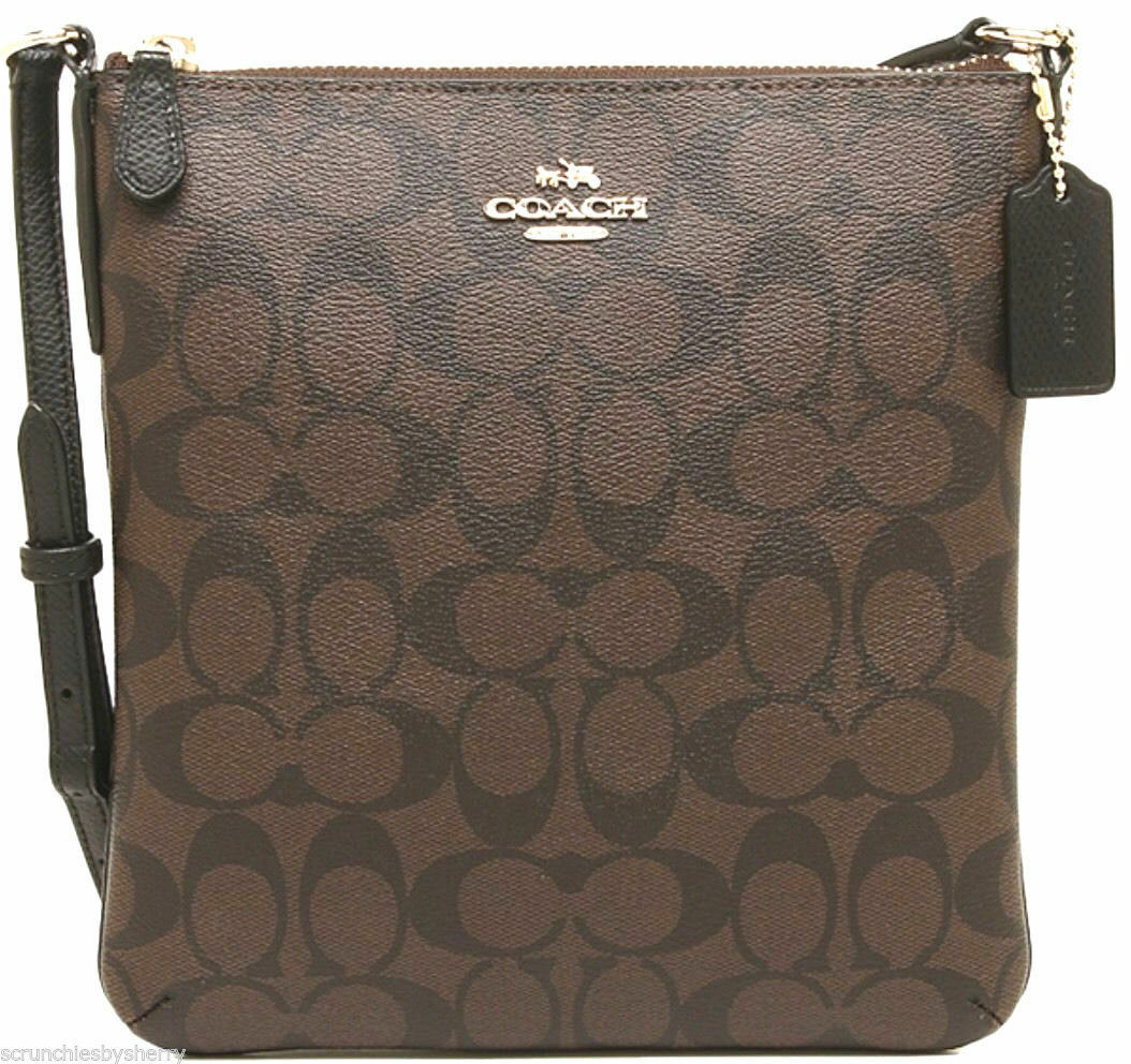 d0ebec92dc Coach F35940 North South Crossbody in Signature Brown Black for sale ...