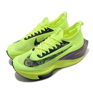 Details about Nike Air Zoom Alphafly Next% FK Flyknit Ekiden Volt Black Men Running DC5238-702