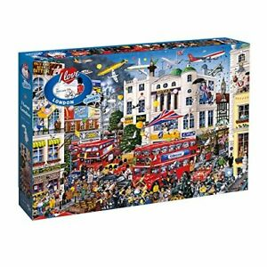 Gibsons-Jigsaw-Puzzle-I-LOVE-LONDON-Britain-England-1000-Pieces