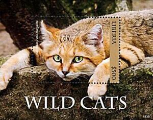 LIBERIA-2018-WILD-CATS-S-S-M-S-MNH
