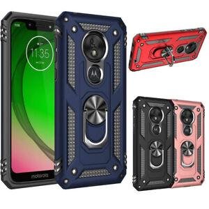 For-Motorola-Moto-G7-Optimo-XT1952-Case-Shockproof-Armor-Ring-Holder-Stand-Cover