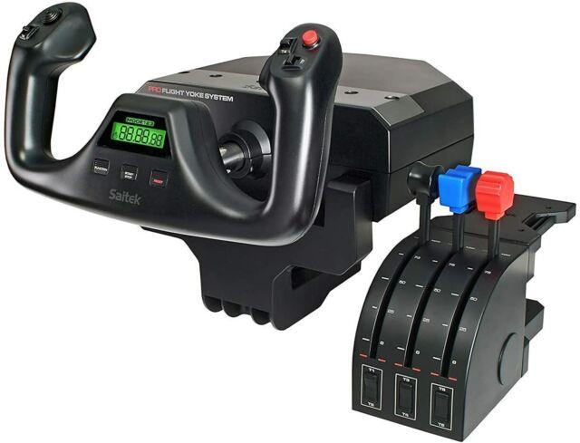 Logitech G Saitek PRO Flight Yoke & Throttle System for PC - FREE OVERNIGHT