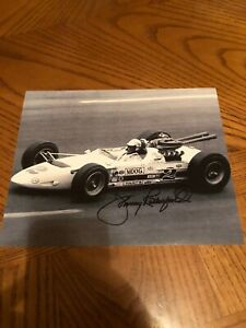 JOHNNY RUTHERFORD SIGNED AUTOGRAPHED 8X10 PHOTO MOTORSPORTS HALL OF FAME 1995 2